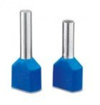 Ferrules with plastic sleeve, color range in acc. wi